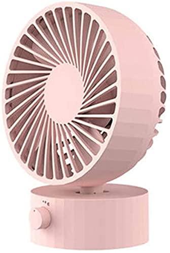 Ankon Fan de dormitorio Mini Desk Fan, USB Ventilador personal de la mesa con la regulación de la velocidad continua, susurro silencioso, fuerte viento, ventilador de enfriamiento ajustable para la of