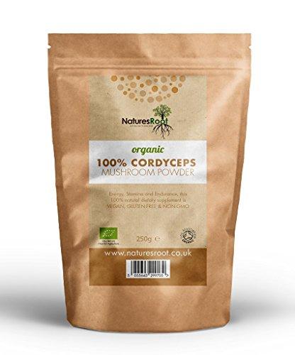 Natures Root Cordyceps biológicos en polvo de setas - Certificado polvo puro...
