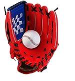 Wonninek 12,5 Pulgadas Guante de béisbol, Suave, sólido, de Cuero de PU, Engrosamiento, Lanzador,...