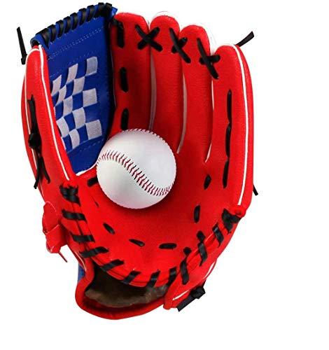 Wonninek 12,5 Pulgadas Guante de béisbol, Suave, sólido, de Cuero de PU, Engrosamiento, Lanzador, Guantes de softbol para niños, Adolescentes, Adultos, Guantes de béisbol Profesionales para at