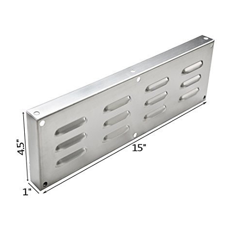 Skyflame Stainless Steel Venting Panel for Masonry Fire Pits and Outdoor Kitchens 15-Inch by 4-1/2-Inch