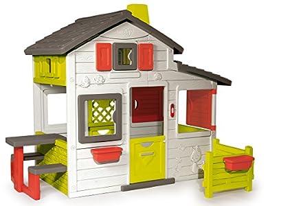 Smoby-310209 Casa Friends, color blanco, verde y gris, 149.9 x 84.8 x 39.9 (310209) , color/modelo surtido