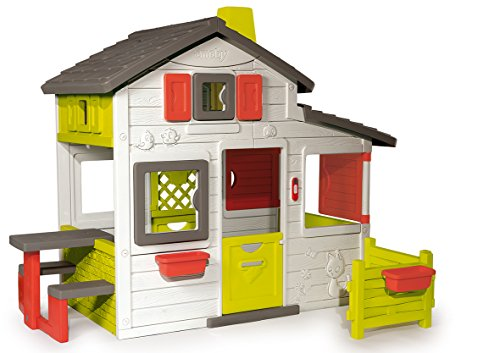 Smoby-310209 Casa Friends, color blanco, verde y gris, 149.9 x 84.8 x 39.9...