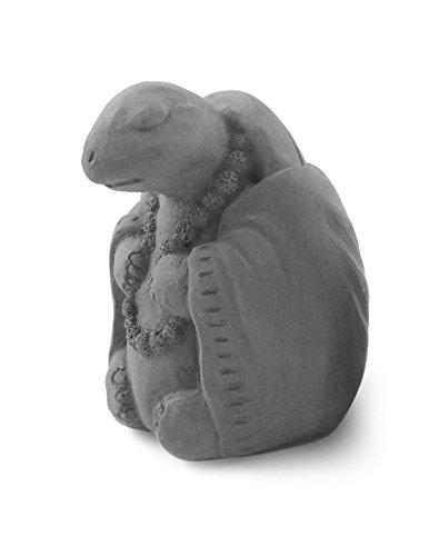 Modern Artisans Meditating Turtle - Small Cast Stone Desk Pet in Grey Stone