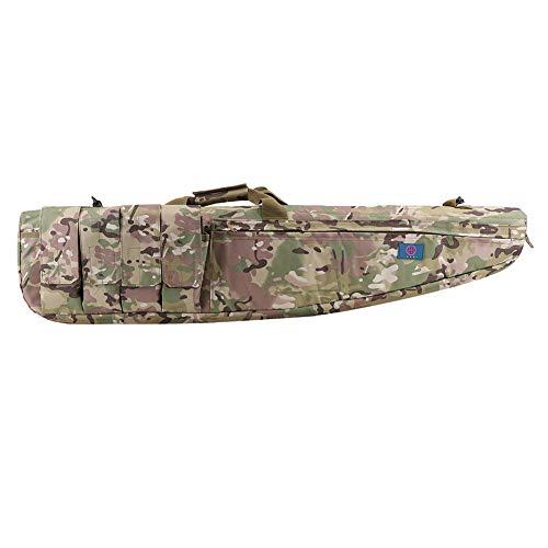 LUVODI Bolsa para Armas Bolsa de Rifle Impermeable Funda Táctica Rifle para Caza Pesca (Camuflaje, 116 x 25 cm)