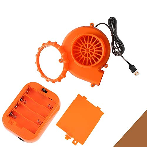 T-Rex Originals Fan Costume and Battery Pack Replacement, Mini Fan Blower for Inflatable Costume - Orange Air Pump (Two-Pack)