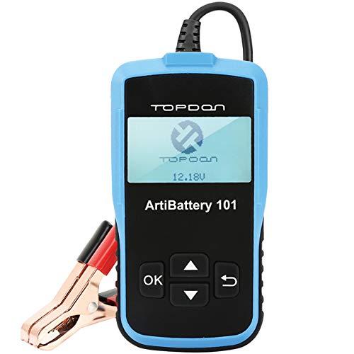 TOPDON AB101 Batterietester-Kfz-12V-6V universal Autobatterie-Tester für Kfz Motorrad LKW SUV etc, Auto-Batterie Zustand Starten & Ladesystem Testgerät, 6 Sprachen DEUTSCH inkl.