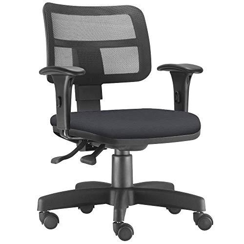 Cadeira Giratória Zip Executiva Ergonômica Escritório Couro Sintético Preto - Lyam Decor