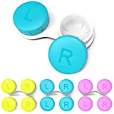 CHATTAL Colorful Contact Lens Case, Pack of 6 Leak Proof, Compact Eye Contact Case for Travelling