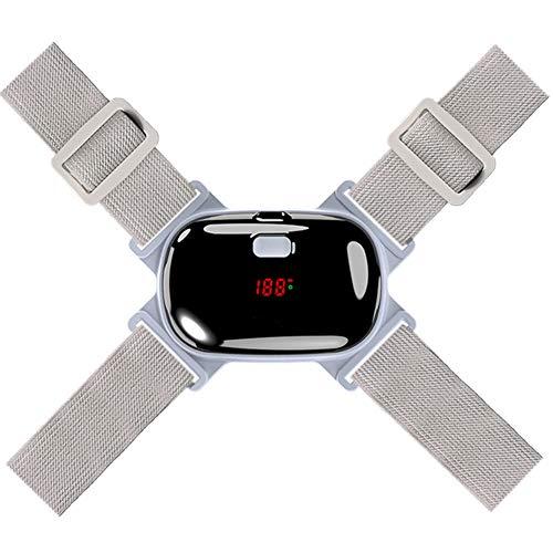 Corrector de Postura Espalda de Espalda Ajustable con recordatorio de vibración, Endereza la Espalda Invisible, Cinturón de Espalda para Soporte de Espalda Recta y Alivio del Dolor,Gray