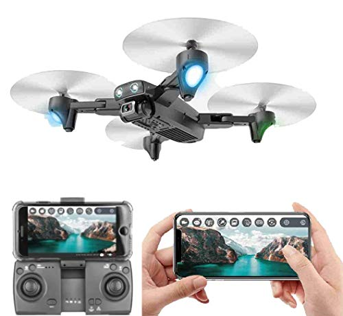 Amitasha Remote Control 480p Foldable Camera Drone Flying WiFi Quadcopter - Multicolour