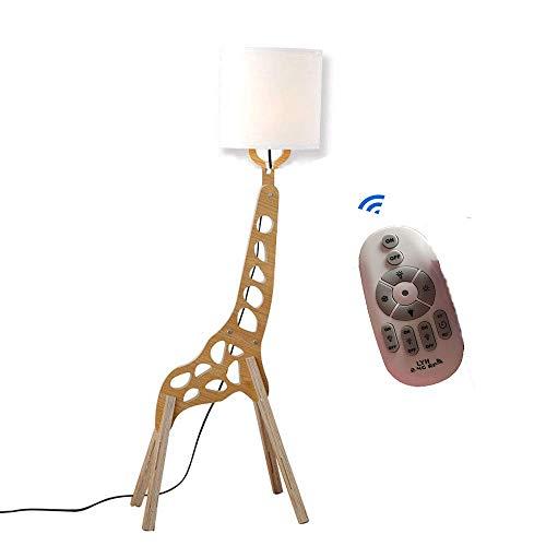 Moderno Estilo nórdico lámpara de pie control remoto creativo Original Madera 1.1m Jirafa de decoración de madera humanoide ajustables Decoración del hogar Luz Brillo y Color Regulable
