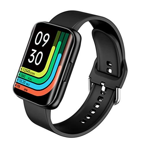 ibasenice Smartwatch-Telefon 1. 78 Zoll Gebogener Touchscreen wasserdichte Fitness-Tracker-Uhr mit Herzfrequenz-Monitor Schritt Schlaf-Tracker Smartwatch für Männer Frauen