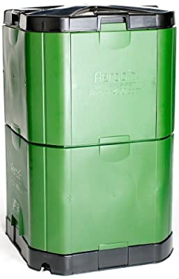 Exaco Trading Co. Aerobin 400 Exaco Insulated Composter and Self Aeration System, 113 Gallon, Green