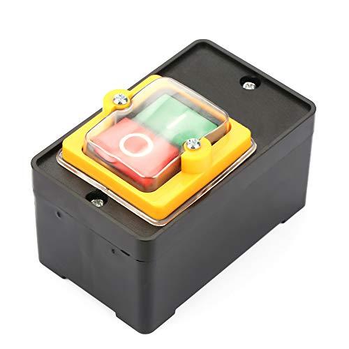 Interruptor pulsador, AC220V / 380V 10A Interruptor a prueba de agua Interruptor de control a prueba de agua 200 (MΩ) con base para maquinaria textil