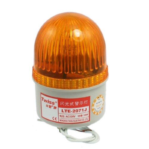sourcing map AC 220 V Orange Industrielle Signal Tower Alarm-Licht Buzzer Sound DE de