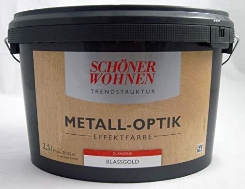 Trendstruktur- Metall-Optik - Effektfarbe Blassgold glänzend 2,5l