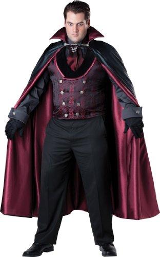 InCharacter Costumes Men's Plus-Size Midnight Vampire Costume, Black/Red, XX-Large