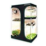 MARS HYDRO 2-in-1 Grow Tent Canvas Reflective Mylar Grow Tents with Removable Floor Tray for Indoor Hydroponic Growing Room 36''x24''x55''