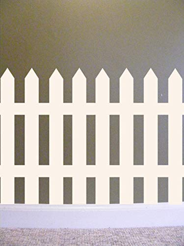 Yilooom Picket Fence Vinyl Wall Decal, Fence Wall Decal, Classroom Wall Decal, Teacher Decals, Preschool, Elementary School Wall Decorations Teacher 12 Inch in Width