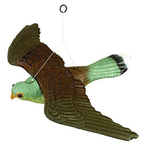 HHH HUNTING Fliegend Falke Lockvogel Vogel Abschreckungsmittel,Lebensechte Und Realistische Mit Aufhäng Schnüre,Voll Körper Ungezieferkontrolle Garten Katze Und Vogelabweiser