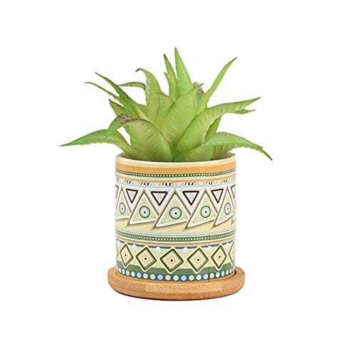 Keramische Gesimuleerde Potplanten Bamboe Dienblad Kleine Bloempot Prachtig Voor Vakantie Geschenken + Interieur Kantoor Tafelbladen Decoratie