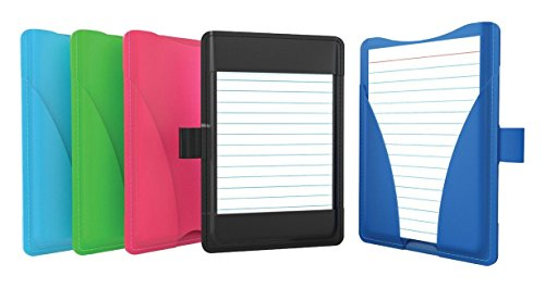 """Oxford At-Hand Note Card Case, 3"""" x 5"""" Size, Color May Vary, Includes 25 Ruled Index Cards (63520)"""
