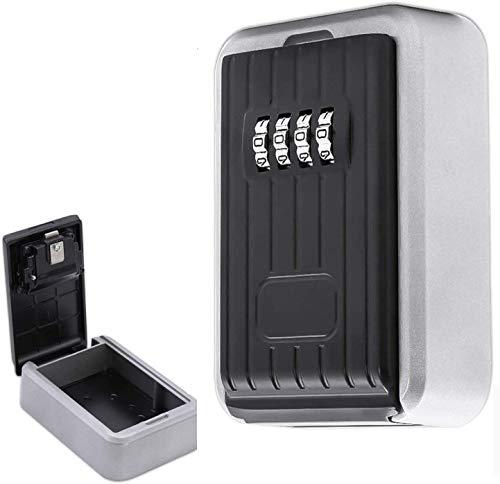 wolketon Schlüsseltresor, Schlüsselsafe mit 4-Stelliger Zahlencode, Schlüsselkasten für die Wandmontage, Schlüsselbox für Ersatzschlüssel