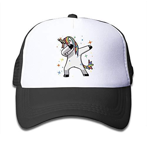 DD Decorative Dab Hip Hop Funny Magic Unicorn Boy Girl Hats Snapback Mesh Cap Adjustable Baseball Caps Kids Trucker Hat Pink
