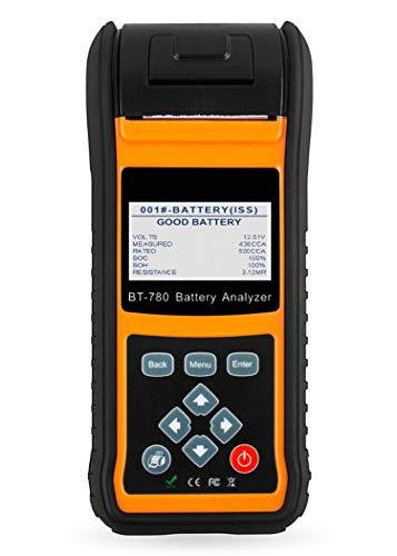 WUAZ Auto-Batterie-Tester, 12V 24V Autobatterie Laden Analyzer starten und Ladesystem Test Tool mit integriertem Thermodrucker