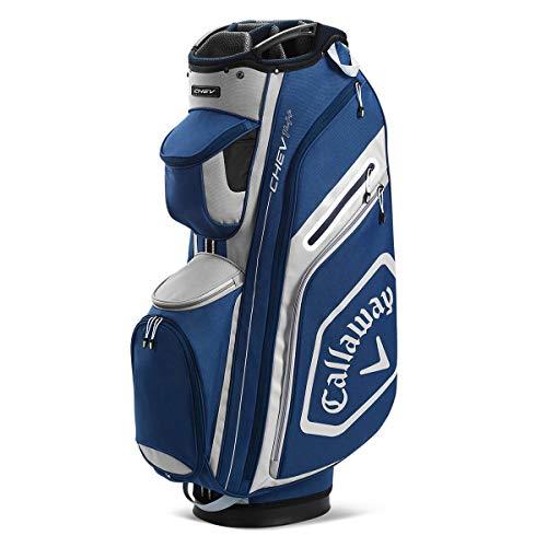 Callaway Golf Chev 14+ Cartbag 2020, Unisex, 2020 Callaway Chev 14+ Cartbag Navy/Silver, 5120008, Navy / Silber, Einheitsgröße