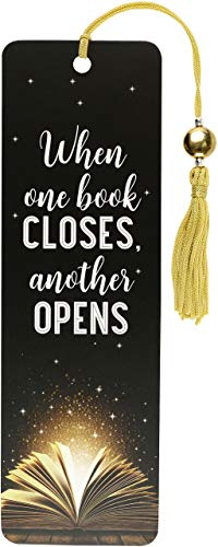 When One Book Closes Beaded Bookmark