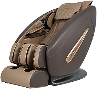 Titan Pro Commander FDA 3D Massage Full Body Massage Recliner Zero Gravity Best Massage Chair Air Compressor Leg Massager (Brown)
