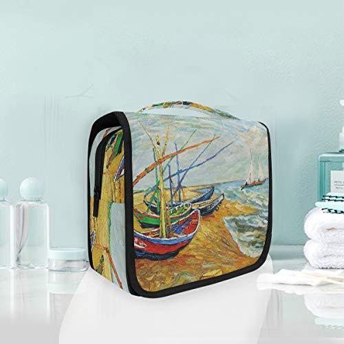 Malplena Sac de rangement portable coloré en forme de bateau pour peinture artistique, maquillage, pinceaux de maquillage, accessoires de toilette, bijoux