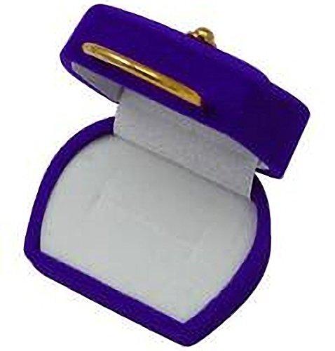 EYS JEWELRY Handtasche Schmuck-Etui für Ring 32 x 59 x 50 mm Samt blau Ring-Box Schachtel Schatulle Geschenk-Verpackung