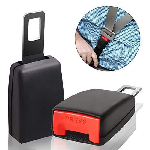 Seat Belt Extender - 7/8'' Metal Tongue - 2Pcs Belt Buckle, Seatbelt Extenders for Cars, Seat Belt Clips, Seat Belt Extension for Kids, Car Seat Belt Extender for Trucks, Vans, SUV (4.72 IN) Connecticut
