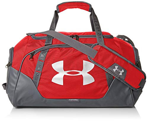 Under Armour Undeniable Duffle 3.0 Gym Bag , Red (600)/Silver , Small