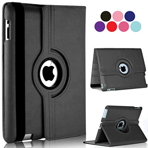 Vultic iPad Pro 9.7 Case (2016) - 360 Degree Rotating Stand [Auto Sleep/Wake] Leather Smart Cover Case for Apple iPad Pro 9.7\' inch 2016 (Black)