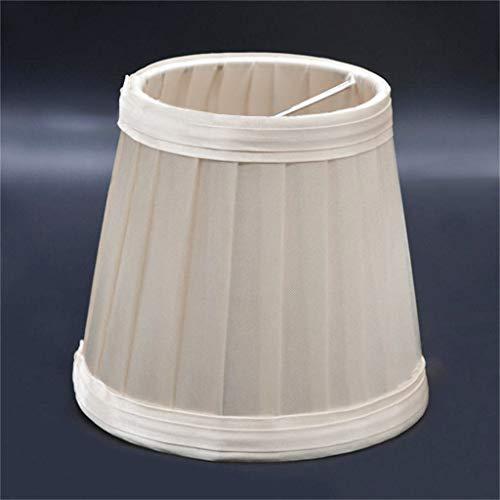 Wyxhkj Lampenschirm,Europäischer Lampenschirm Vintage Stoff Plissee Lampenschirm Warme Atmosphäre Dekoration Lampenschirm für Schreibtischlampe, Wandlampe, Stehlampe und Nachttischlampe (gelb)