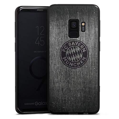 DeinDesign Silikon Hülle kompatibel mit Samsung Galaxy S9 Case schwarz Handyhülle Metallic Look FCB FC Bayern München