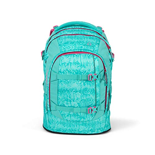 satch Pack Aloha Mint, ergonomischer Schulrucksack, 30 Liter, Organisationstalent, Türkis