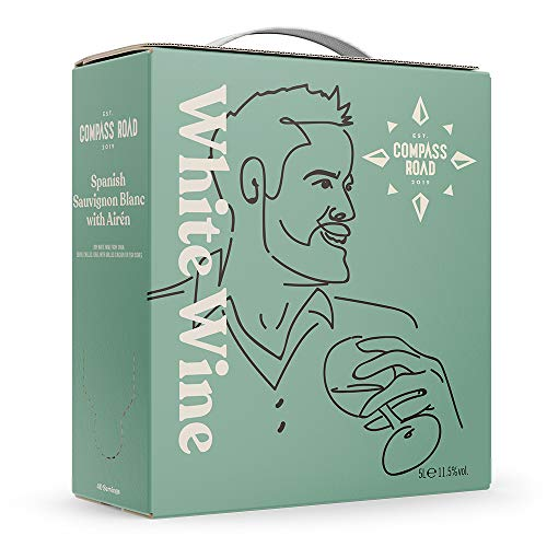 Amazon-Marke - Compass Road Weißwein Sauvignon Blanc mit Airén trocken, Spanien (Bag in Box), 5L