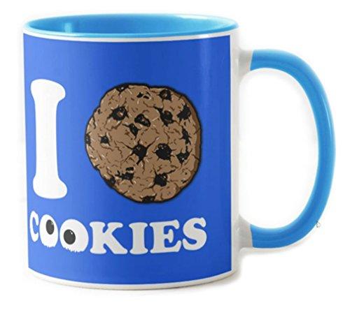 Camisetas La Colmena 702-Taza Barrio Sesamo - I Love Cookies (2MZ)