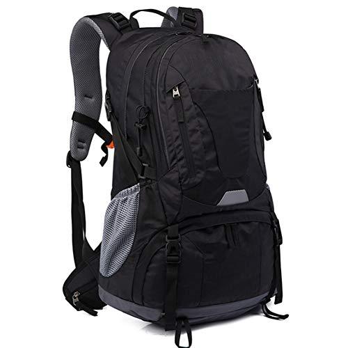 Outdoor Sports Backpack 50L Mountaineering Bag Men's Backpack Large Capacity Hiking Bag,black