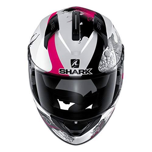 SHARK Unisex-Erwachsene RIDILL Spring-White/Black L Helm, Weiß/Schwarz/Pink, L - 59-60 cm - 23.2-23.6\'\'