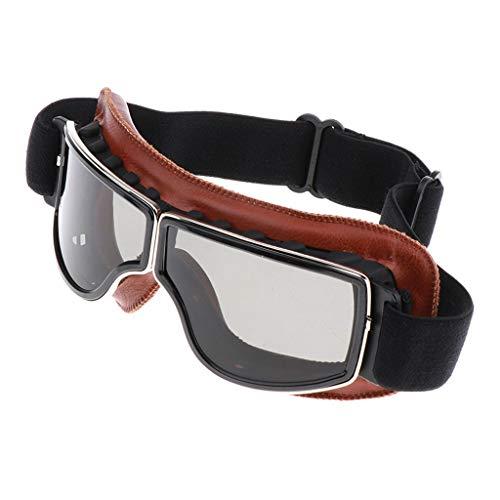 non-brand Motorradbrille Sportbrille Skibrille Schutzbrille für Outdoor Aktivitäten, Anti-Fog, Winddicht, Sanddicht, Nachtsicht, UV-Schutz, Kratzfest