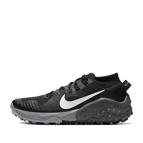 Nike Wildhorse 6, Trail Running Shoe Womens, Off Noir/Spruce Aura-Black-Iron Grey, 40.5 EU