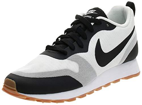 Nike MD Runner 2 19, Zapatillas de Atletismo Hombre, Blanco y Negro, 42 EU