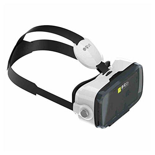 Vr Brillen 3D Virtual Reality Headset Smart Helm 120 ° Betrachtungswinkel Immersive Erfahrung Leicht Tragbar ( Color : Weiß )