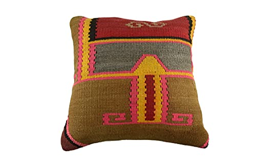 Kelim 3518 - Cojín (50 x 50 cm, funda de almohada decorativa Kelim, 50 x 20 pulgadas), diseño de Kilim Lumbar